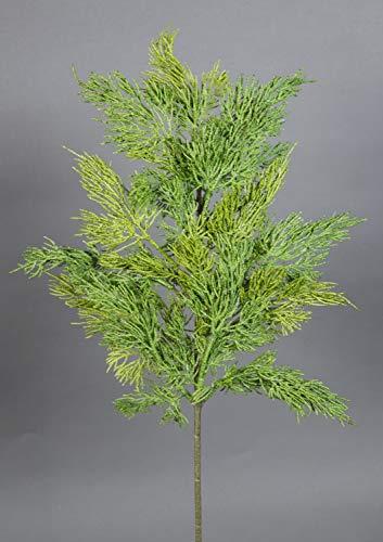 Seidenblumen Roß Zedernzweig 50x25cm CG künstliche Zeder Tanne Tannenzweigen Kunststoff Spritzguss