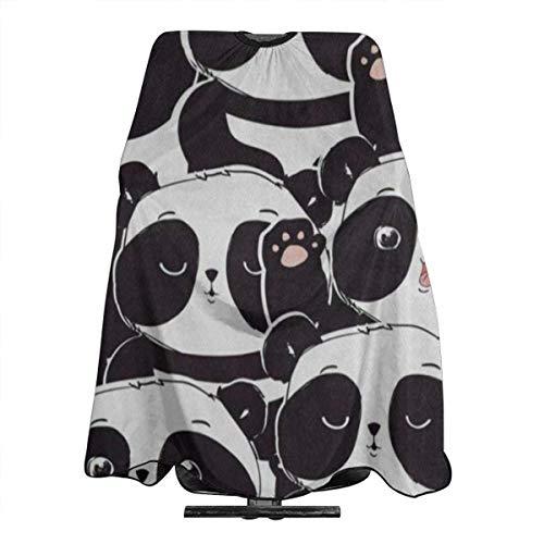 MODORSAN Capa de Peluquero de Dibujos Animados Adorable Capa de Oso Panda Unisex 55 * 66 en Capa de Corte de Cabello para Tratamiento de Cabello-Corte/Permanente Cierre de Cuello a presión