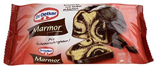 Dr. Oetker fertiger Marmorkuchen, 4er Pack (4 x 350 g), saftiger Rührkuchen aus Kakaorührmasse und Rührmasse mit Vanille-Geschmack, mit Schokolade überzogen, sofort verzehrfertig, wie selbstgebacken