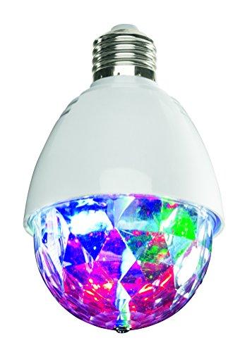 EASYmaxx 04684 LED Partyleuchte | rotierende LED-Glühbirne | E27-Fassung