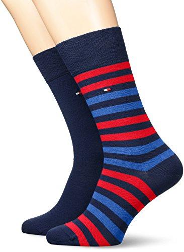 Tommy Hilfiger Herren TH MEN DUO STRIPE 2P Socken, Mehrfarbig (Tommy Original 085), 43/46 (2er Pack)