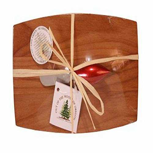 Out of the Woods of Oregon Godfather Board with Christmas Ornament Spreader, Red