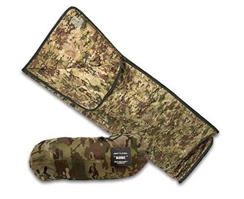BATTLBOX BattlTac Camo Woobie Military Style Poncho Liner and Sleeping Bag (with Zipper) - Multicam Camo