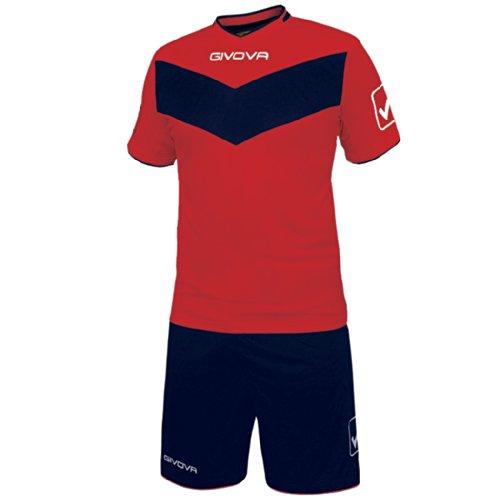 Givova Vittoria, Kit Calcio Unisex - Adulto, Multicolore (Rosso/Blu), XL
