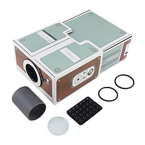 Dswe Proyector de Entretenimiento de Cine en casa Digital Compacto de Segunda generación para Bricolaje, fácil instalación
