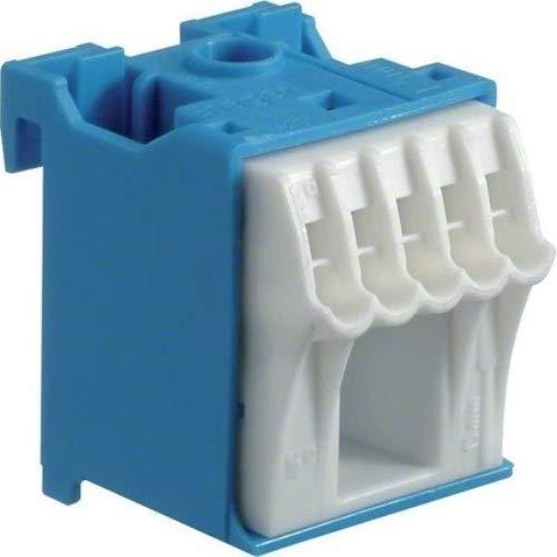 Hager QUICK CONNECT N-Klemmblock KN06N, Blau, Weiß, 1 Stück