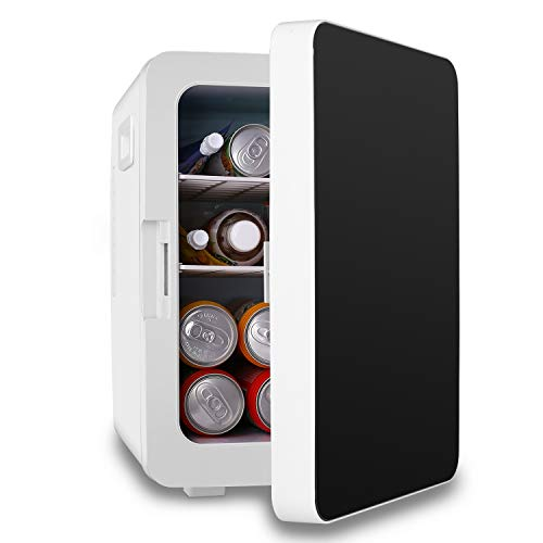 20L Mini Fridge, Compact Refrigerator Large Capacity Portable Cooler and Warmer with Temperature Control, Single Door Mini Fridge Freezer for Cars, Road Trips, Homes, Offices & Dorms