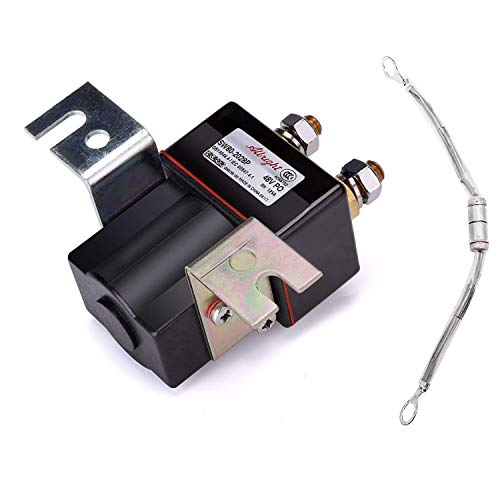 Club Car 48V 4 Terminal Solenoid Coil, 95-Up DS and 04-08 Precedent Golf Carts - 101908701 102774701, 5722 Suit(Solenoid and Resistor Assembly)
