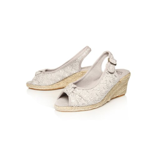 Kurt Geiger, Sandales pour Femme Gris Light Grey 36 (4 UK)