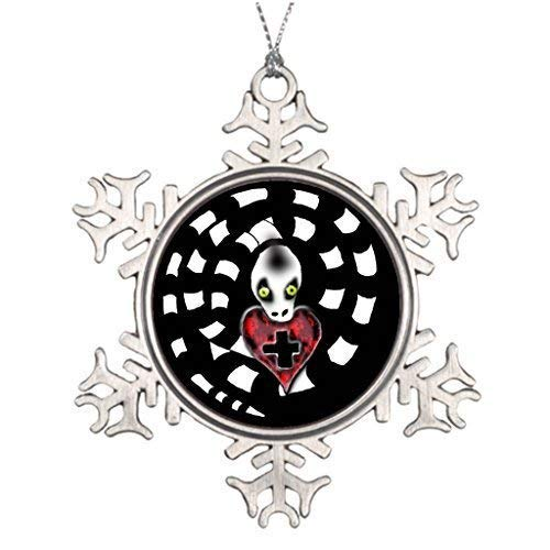 Personalisierte Familien-Weihnachtsschneeflocke lustige Ornamente 7,6 cm Gothic Buntglas Weihnachten Schneeflocke Lustige Ornamente 7,6 cm