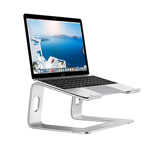 Laptop Stand for Desk Portable Aluminum Laptop Riser Compatible with Macbook pro 10-15.6 inch Computer Stand for Laptop-Silver