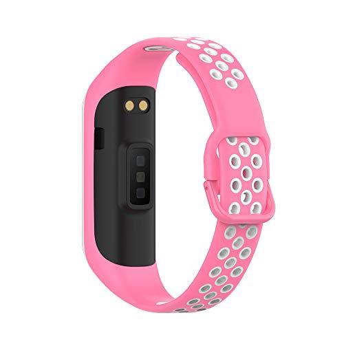 KINOEHOO Correas para relojes Compatible con Samsung Galaxy Fit 2 SM-R220 Pulseras de repuesto.Correas para relojesde siliCompatible cona.(Rosa)