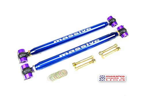 Made in USA BLUE PEARL Adjustable BOOTED Rear Lower Control Arms LCA Compatible w/ 82-02 Camaro Firebird Trans Am GM F Body Massive Speed System RaceSpec
