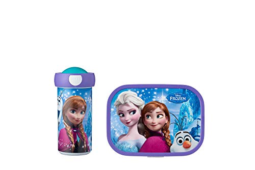 Mepal Lunchset (Pop-up Trinkflasche und Brotdose) -Frozen Sisters Forever Pausenset Campus, ABS, 0 mm
