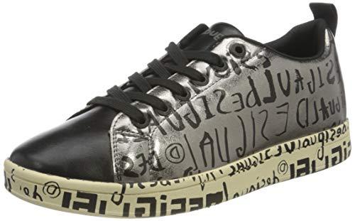 Desigual Shoes_Cosmic_letteri, Zapatillas para Mujer, Azul, 37 EU