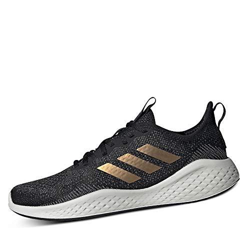 Adidas FLUIDFLOW, Zapatillas para Correr Mujer, Core Black/Tactile Gold Met. F17/GREY Six, 42 EU