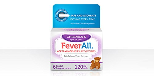 FEVERALL CHILD SUPPOS 120 MG Size: 6