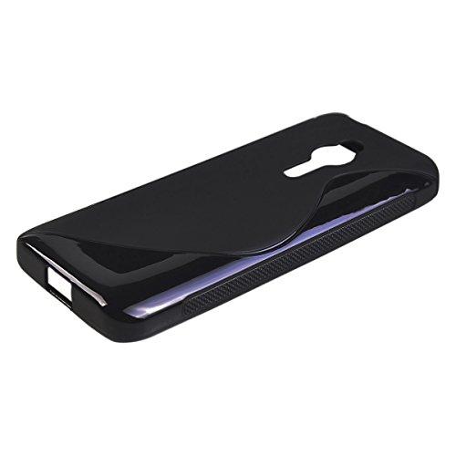 COOLKE Morbido Gel TPU Copertina Custodia Cover Astuccio Case Cover per Nokia Asha 230 - Nero