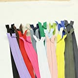 Xuccus Alipress 40cm Invisible Zippers 50PCS 3# DIY Nylon Coil Zipper for Sewing Cushion/Back Tailor Tools - (Size: 40cm, Length: 40cm)