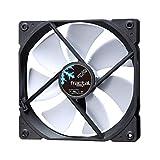 Fractal Design Dynamic X2 GP-14 Computer Fan - Silent Fan - High Airflow – 140x140x25 mm – 1000RPM – FDB-Bearings – Trip Wire - Aerodynamically Shaped Struts – 12v - Black/White (Single)