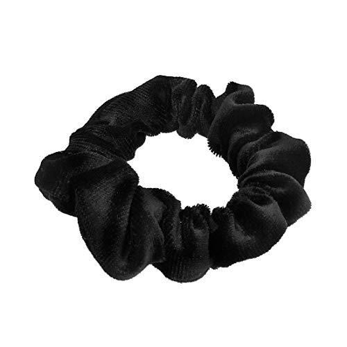 202 – 509 – élastique pour cheveux fermacoda velours lisse épaisseur cm 2 et 7 cm de diamètre environ – élastiques pour cheveux Noir