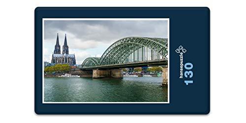 hansepuzzle 68630 Orte - Köln, 130 Teile in hochwertiger Kartonbox, Puzzle-Teile in wiederverschliessbarem Beutel.