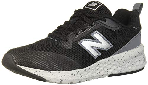 New Balance Boys' 515v2 Running Shoe, Black/Lead, 6 M US Toddler