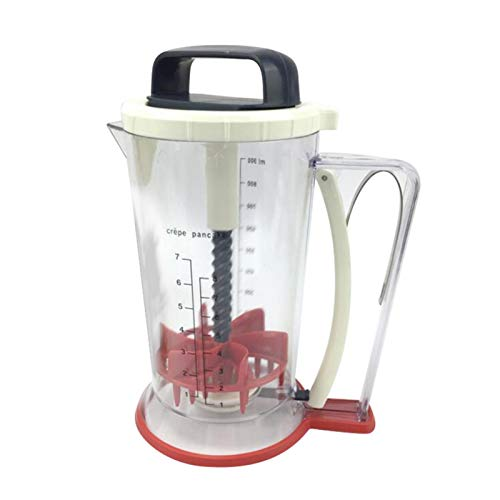 adminitto88 Batter Mixing Cup Automatic Batter Hand Shake Measuring Cup Precise Scale Clear Graduated Cups Mixing Cups Mixing Cup Handheld Dispenser