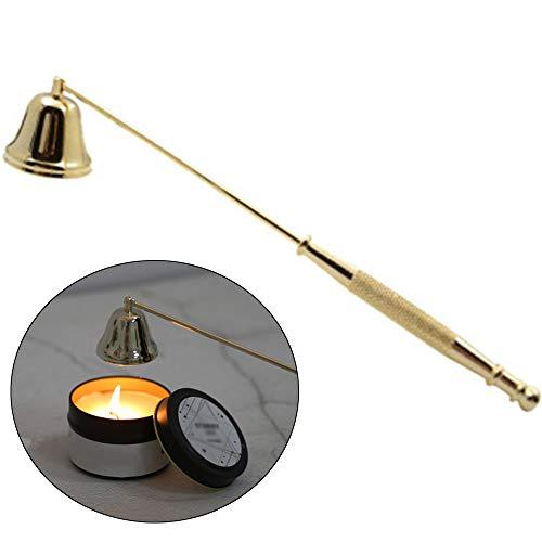 Xinlie Kerzenlöscher aus Edelstahl Edelstahl-Kerzenlöscher Kerzenlöscher mit Griff Kerzenwerkzeug Für Kerzen Docht Löscher Dochtlöscher aus Qualität Edelstahl Gefertigt Candle Extinguisher (Golden)