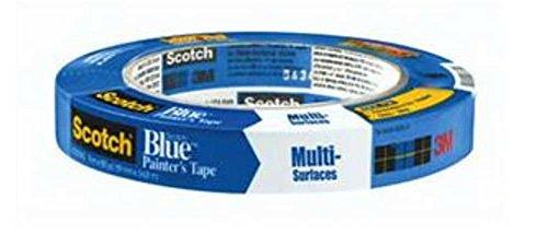 3M Scotch-Blue 2090 Krepppapier, für verschiedene Oberflächen, 12,2 kg Zugfestigkeit, 60 m Länge x 1,9 cm Breite, Blau
