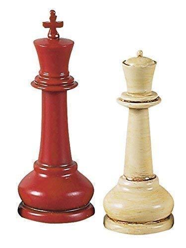 Grandes Competición figuras de ajedrez, color rojo y beige, Después De Howard Staunton
