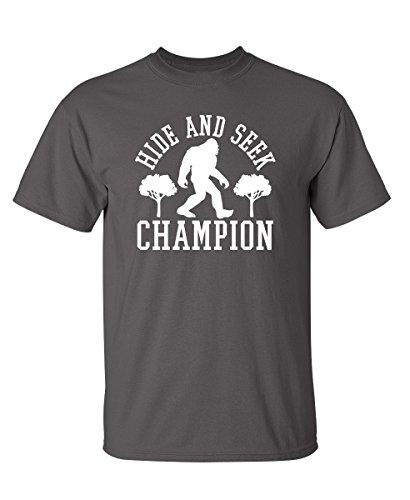 Bigfoot Hide and Seek Graphic Novelty T Shirt XL Charcoal