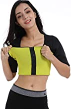Valentina Womens Hot Thermo Shaper T Shirt, Neoprene Slimming Bodysuit, Workout Sweat Sauna Suit, Body Fat Burner, Best Exercise Trainer for Weight Loss, Black with Front Zip