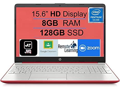 HP 15 15.6 HD Display Laptop Notebook Intel Pentium Quad-Core N5000, 8GB DDR4 RAM, 128GB SSD