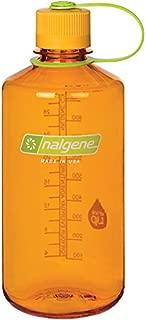 Nalgene Tritan 32 oz Narrow Mouth BPA-Free Water Bottle, Clementine