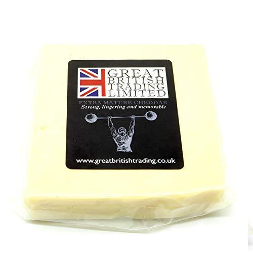 Cheddar forte, ricco e memorabile. Prodotto nel Regno Unito. Pratica confezione sottovuoto da 200 g. Delizioso e forte Cheddar Idea regalo.