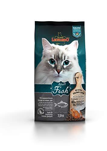 Leonardo Adult Fish [7,5kg] Katzenfutter | Trockenfutter für Katzen | Alleinfuttermittel für ausgewachsene Katzen Aller Rassen ab 1 Jahr