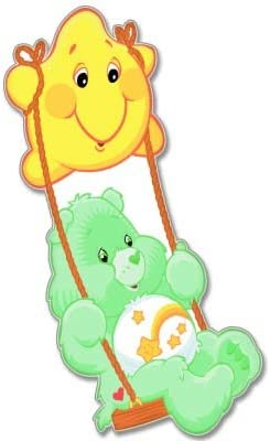 3 c-carebears10 3 Care Bears Sticker pour voiture Motif ours grincheux Vynil X-Small
