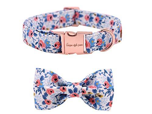 Unique Style Paws Hundehalsband Fliege Halsband Verstellbare Halsbänder oder Hundeleinen für Hunde und Katzen Klein Mittelgroß Groß