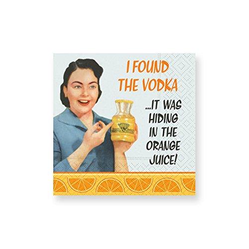 Design Design In The Orange Juice Cocktail Napkins, Multicolor