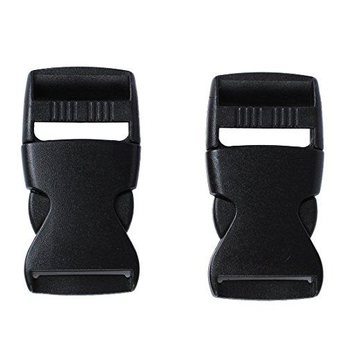 SODIAL (R) 2 Pz 1 'Ricambi Cintura Collegamento fibbia a sgancio rapido plastica nera