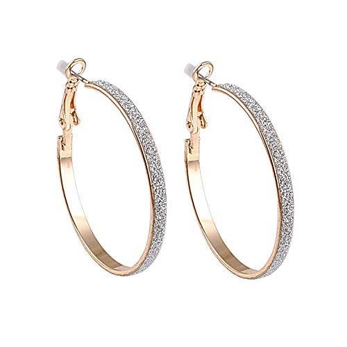 circle gold Clip on the ear Earrings hoops for women with cushion pad without piercing Fashion jewelry