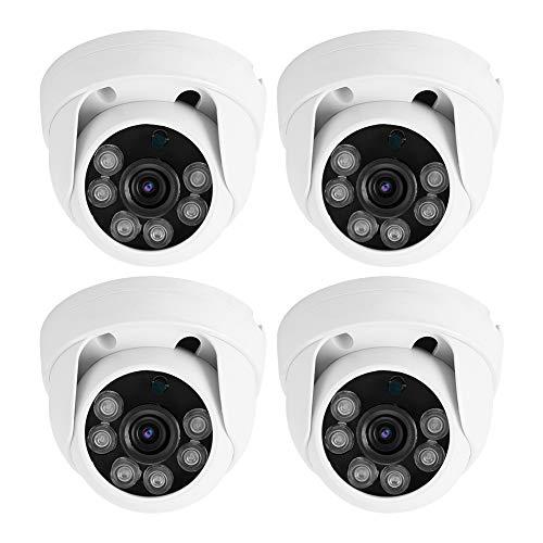 zcyg Cámara Cámara de vigilancia Cámara de Seguridad Cámara Híbrida, 4-IN-1 1080p 2MP AHD/TVI/CVI/CVBS Hybrid HD CCTV Seguridad De La Cámara Hemisférica PAL (Enchufe De La UE)