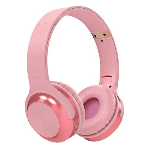 ENticerowts A10 Auriculares Bluetooth para Montaje En La Cabeza Tarjeta Inalámbrica Estéreo Radio Auricular Universal para Correr En El Gimnasio Rosado