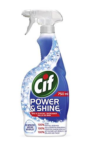 Cif Power und Shine Reiniger Spray Bad und Dusche, 6er Pack (6 x 750 ml)
