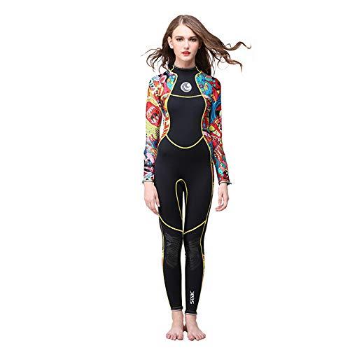 Mountain Warehouse - Traje de neopreno para mujer, cuello ajustable, mantiene el calor corporal de una pieza, con cremallera fácil deslizamiento, para surf, protección UV, color negro, XL