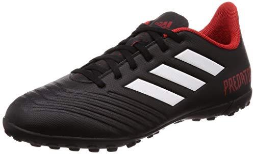adidas Predator Tango 18.4 Tf, Scarpe da Calcio Uomo, Nero (Cblack/Ftwwht/Red Cblack/Ftwwht/Red), 41 1/3 EU