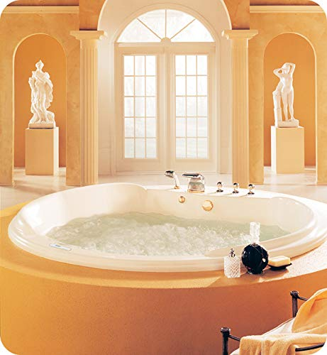 Save %22 Now! NEPTUNE CLEOPATRA bathtub 76x76, Mass-Air/Activ-Air, Biscuit, High Gloss Acrylic