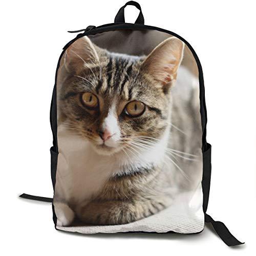 Katzen-Schlafsack/Schultasche, gepunktet, für Reisen, Laptop, Rucksack für Kinder, Studenten, Erwachsene