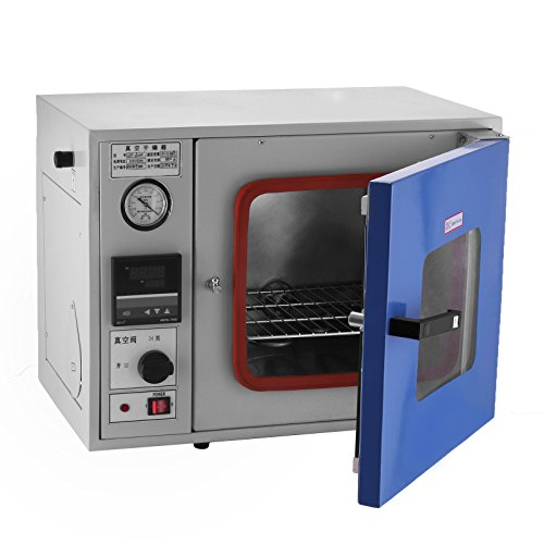 Happybuy 0.9 Cu Ft 23L Vacuum Oven 9?to 480?Degassing Drying Oven Vacuum Level: ?133 Pa (1 mmHg) Drying Sterilizing Oven for Fast and Efficient Drying (23L)